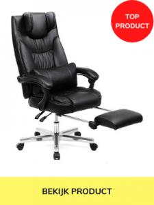 bureaustoel zwart leer